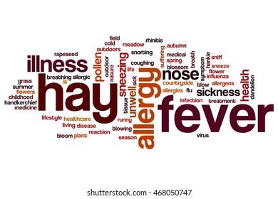 Hay fever word cloud concept