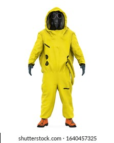 Hazmat Suit Isolated. 3D rendering