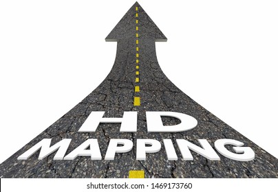 HD Mapping High Definition Geographic Software Road 3d Illustration