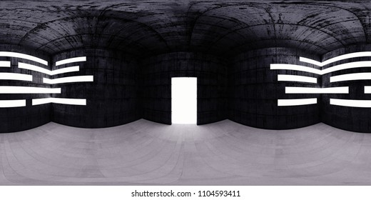 HDRI map room, spherical environment panorama background, light source rendering (3d equirectangular rendering)