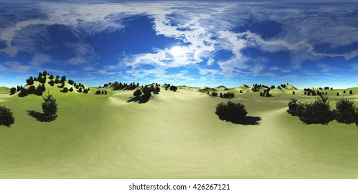HDRI,High resolution map, environment map, Round panorama, spherical panorama, equidistant projection, land under heaven, 3D rendering