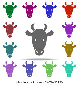 head of cow silhouette icon. Elements of animals in multi color style icons. Simple icon for websites, web design, mobile app, info graphics