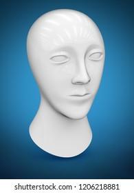 Head of dummy. 3D Illustration.