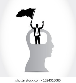 head with a successful businessman avatar. illustration design isolated over a white background.