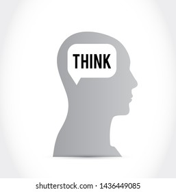 head think brain thinking isolated over a white background