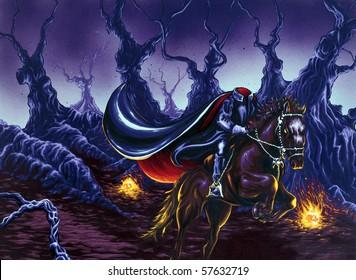 Headless Horseman Painting