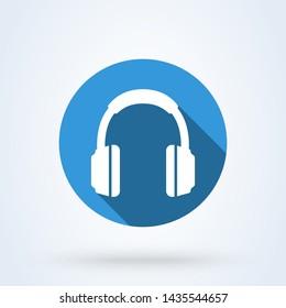 headphone Simple modern icon design illustration.