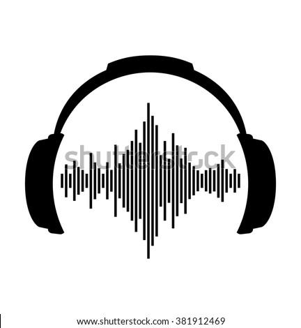 headphones icon sound wave beatsのイラスト素材 381912469 shutterstock