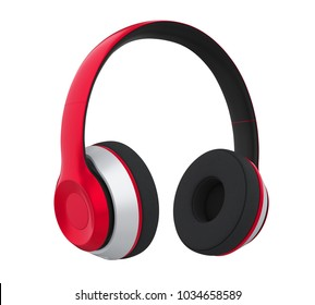 Headphones Isolated. 3D rendering