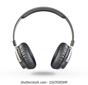headphones isolated on a white background. 3d illusration