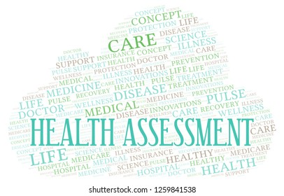 Health Assessment word cloud.