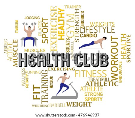 0cff4ea7fa7 Royalty Free Stock Illustration of Health Club Meaning Get Fit Gym ...