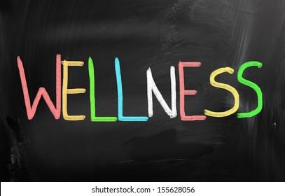 Health concept handwritten with chalk on a blackboard