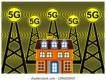 Health risks with 5G networks. Smart homes are exposed to harmful FM radiation from cell towers according to scientists