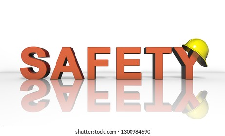 Health and safety (WHS (HSE) (OSH) welfare of people at work title   - 3D illustration render