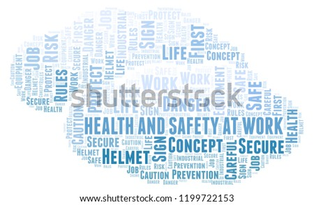 health safety work word cloud stock illustration 1199722153