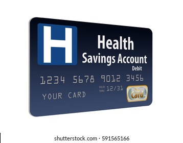 Health Savings Account debit card going to be used more according to President Trump. Here's one, a mock card to illustrate the concept.