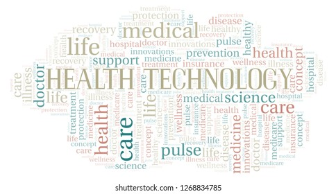 Health Technology word cloud.