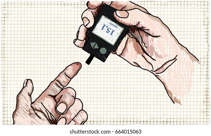 Health-care Illustration about Diabetes Glucose Test