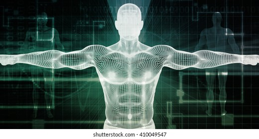 Healthcare Technology With a Human Body Scan Concept 3D Illustration Render