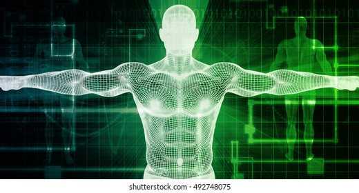 Healthcare Technology With a Human Body Scan Concept 3d Render