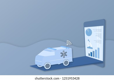 Healthcare and technology. Illustration for artificial intelligence, data analysis or medical technology.