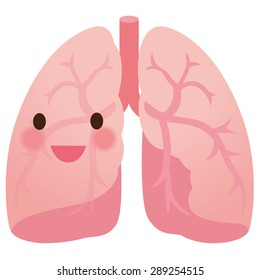 Healthy lung and smile face