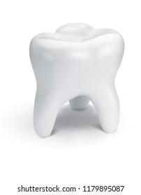 Healthy teeth for dentistry design. 3d illustration