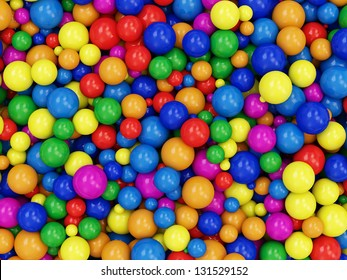 Heap of Colorful Balls Abstract Background. (Animation for this image see in my footage gallery)