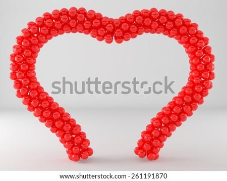 Heart Balloon Frame Arch Stock Illustration 261191870 - Shutterstock