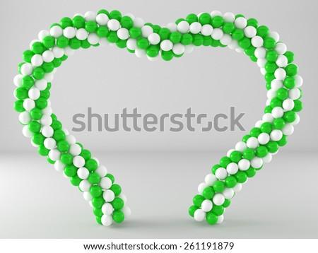 Heart Balloon Frame Arch Stock Illustration 261191879 - Shutterstock
