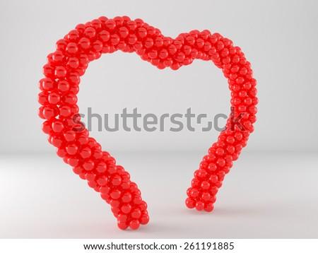 Heart Balloon Frame Arch Stock Illustration 261191885 - Shutterstock