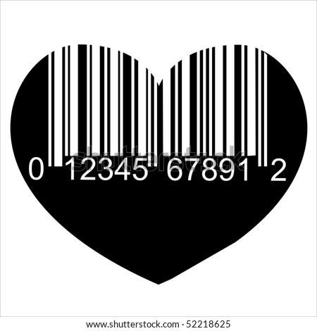 Heart Barcode Icon Love Symbol Useful Stock Illustration 52218625