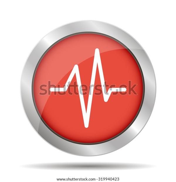 Heart beat, Cardiogram, Medical icon