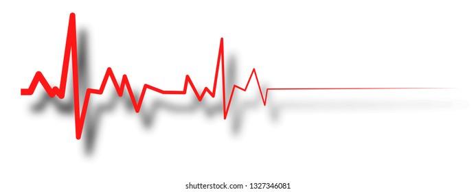 heart beat line, ekg death die. pulse illustration