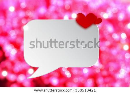 Heart Bubble Speech Paper Cut White Stock Illustration 358513421