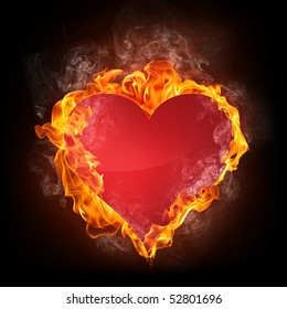 Heart in Fire. Computer Graphics.