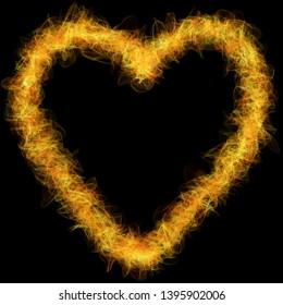 Burning Heart Images, Stock Photos & Vectors   Shutterstock