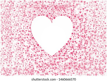 Heart form of a lot of small hearts on a white background
