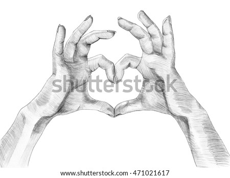 Heart Hands Hands Making Heart Sign Stock Illustration Royalty