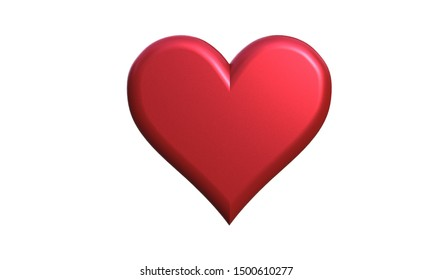 heart icon isolated on a white background 3d illustration