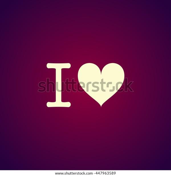 Heart illustration. Happy Valentines Day