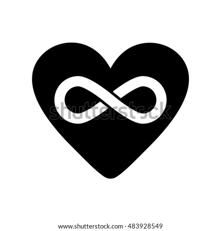 Heart Infinity Icon Heart Infinity Symbol Stock Illustration