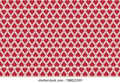 heart intarsia pattern