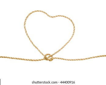 Heart as lasso on white background (isolated).