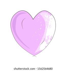 heart lavender handmade purple heart cutie