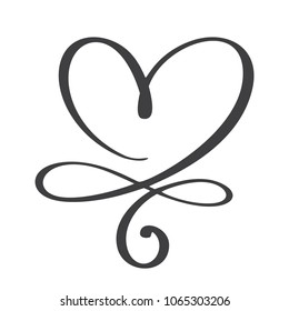 Heart love sign forever. Infinity Romantic symbol linked, join, passion and wedding. Template for t shirt, card, poster. Design flat element of valentine day.  illustration