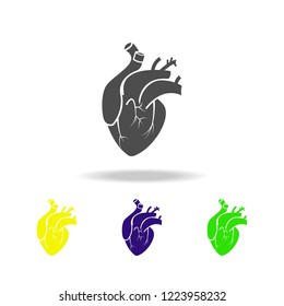 a heart organ multicolored icons. Element of body parts multicolored icons. Signs and symbols collection icon for websites, web design, mobile app, UI, UX on white background