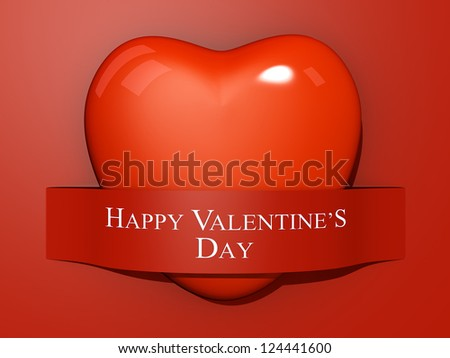 A Heart With Paper Cut Out The Text Happy Valentines