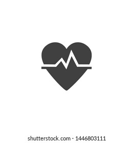Heart pulse icon illustration.Concepts of Hospital,Healthcare and Medical.Icon for mobile and web apps.